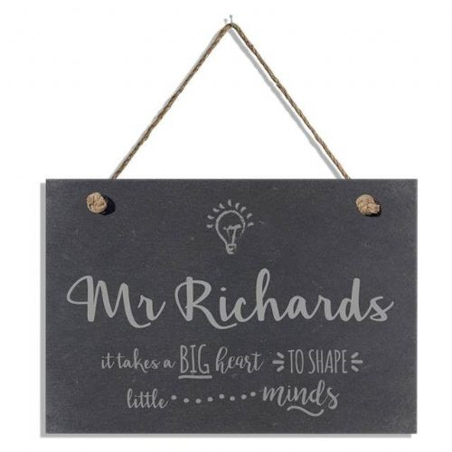 Personalised Teachers Slate Hanging Sign